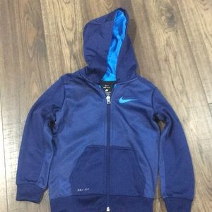 Nike hoody with zipper size 4t